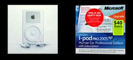iPod-Verpackung von Microsoft