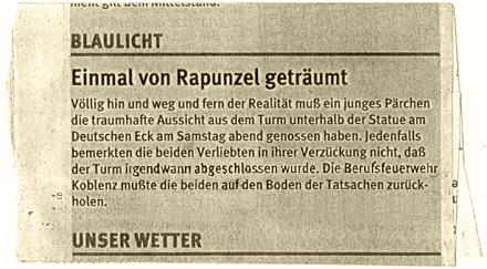 Eingesperrt im Deutschen Eck