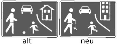 Neues Verkehrschild
