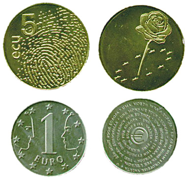 Euro- und Ecu-Münze