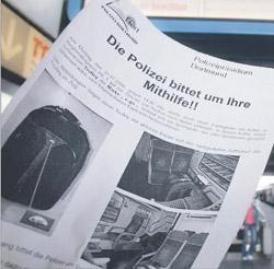 Rollkoffer-Flugzettel