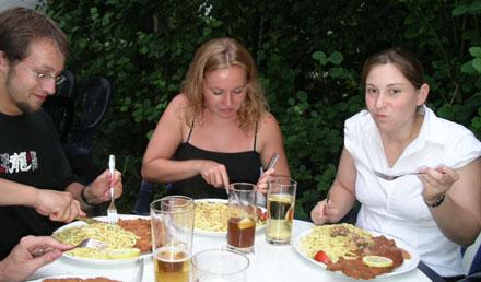 Schnitzel essen