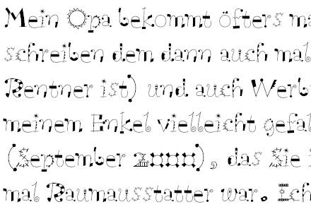 Modern Living Schriftprobe
