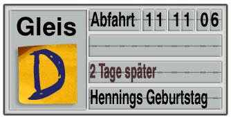 Verspätungswochen: Hennings Geburtstag