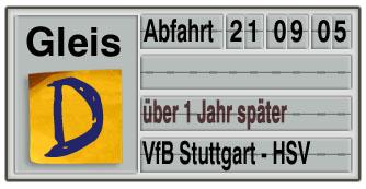 Verspätungswochen: Stuttgart - HSV