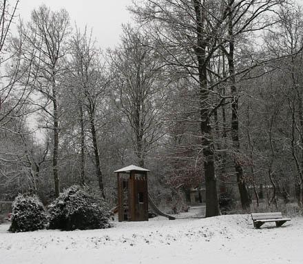 erster Schnee in Ulm