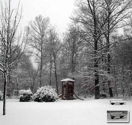 Schnee, zweiter Tag