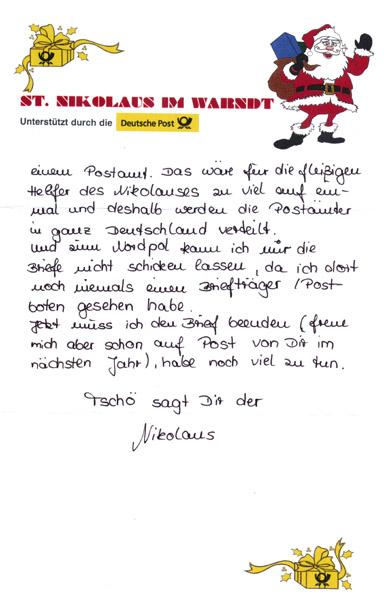 Brief Für Nikolaus : Der brief an den weihnachtsmann online schauen und