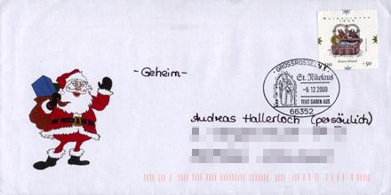 Briefumschlag Nikolaus