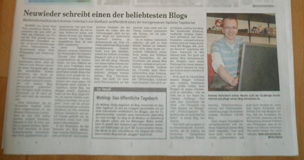 DonsTag in der Rhein-Zeitung