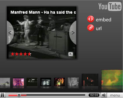 Neues YouTube Menu