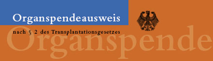 Organspendeausweis
