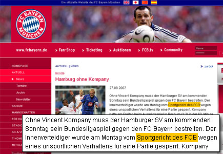FCB sperrt Kompany
