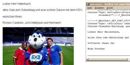 Glückwünsche vom HSV