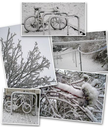 Wintereinbruch in Ulm