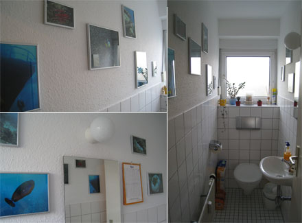 Unterwasserfotos im WC