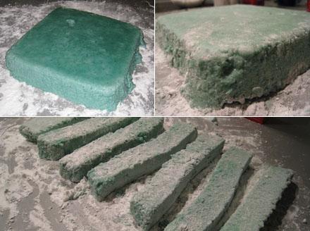 Verarbeitung Marshmallowmasse