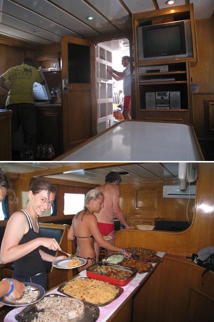 Essen auf dem Boot