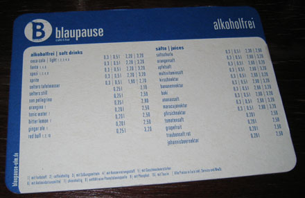Bierdeckel Blaupause
