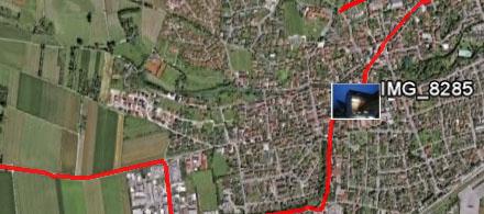 GPS auf Google Earth