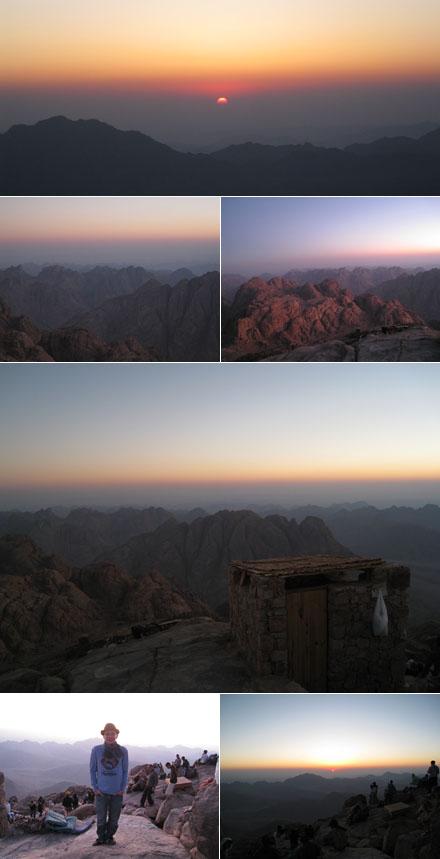 Sonnenaufgang auf Mosesberg